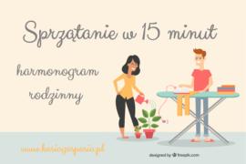 Rodzinne sprzątanie w15 minut – harmonogram
