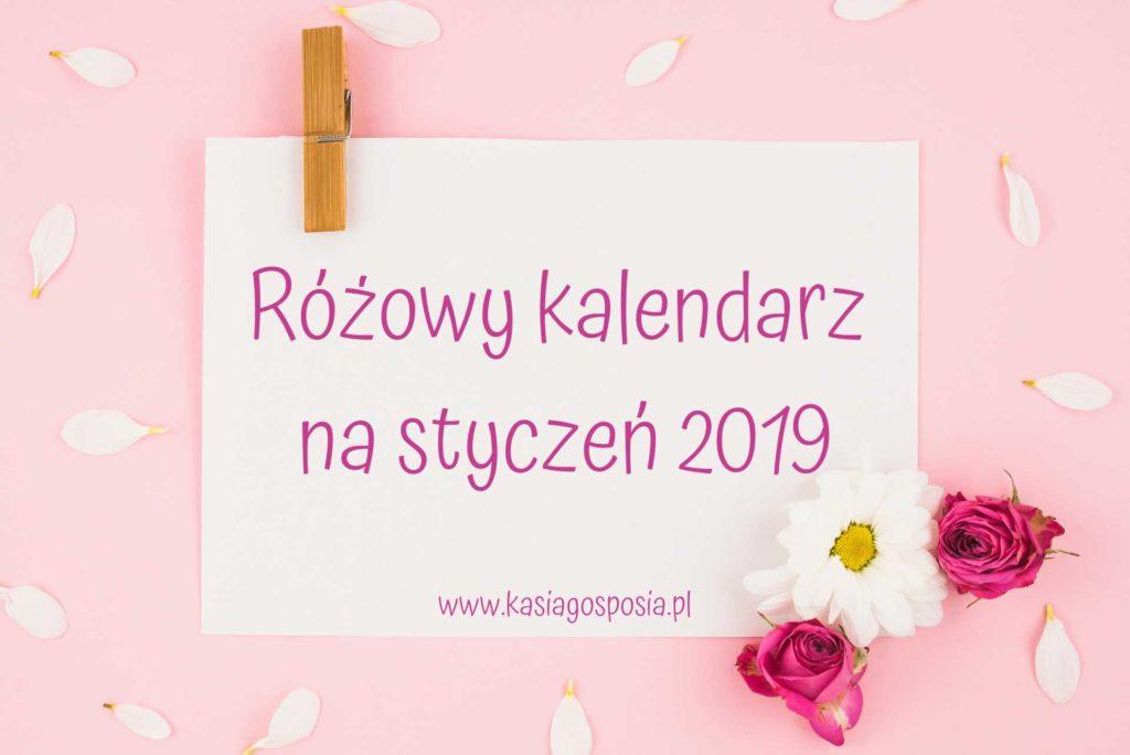 Różowy kalendarz nastyczeń 2019