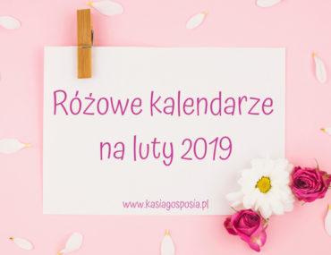 Różowe kalendarze na luty 2019