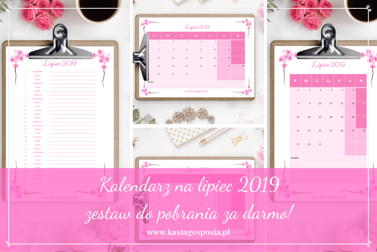 kalendarz na lipiec 2019