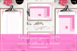kalendarz na czerwiec 2019