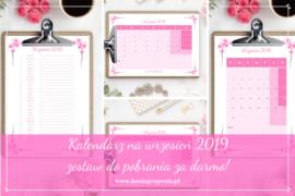 kalendarz na wrzesień 2019