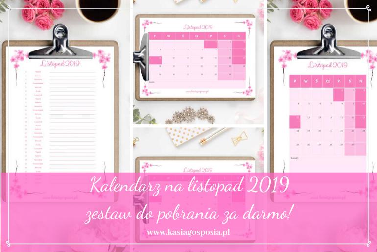 kalendarz nalistopad 2019