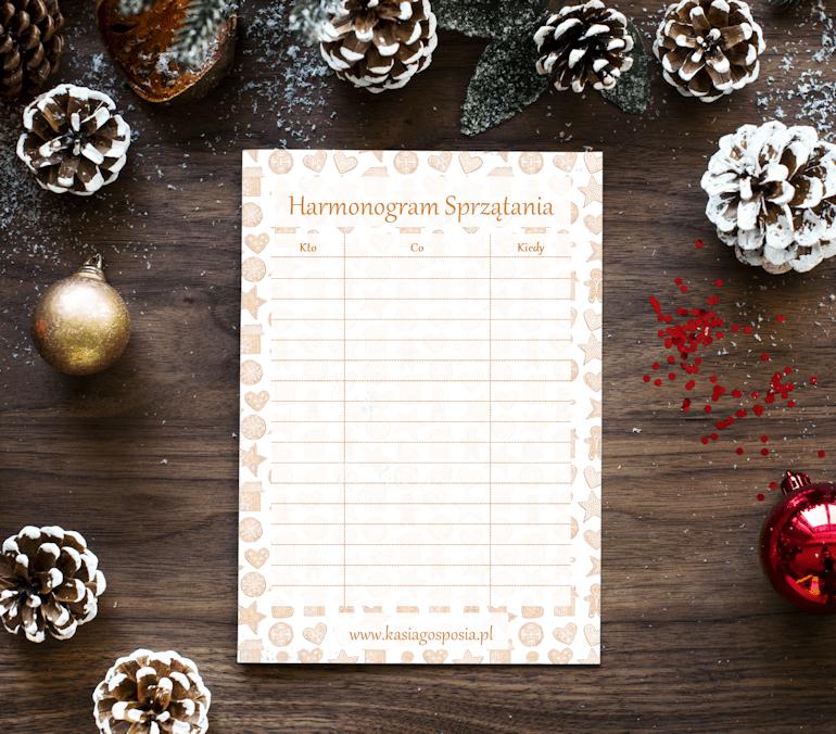 planer świąteczny